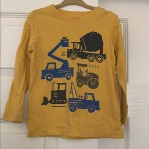 Carter's 2T Boys Yellow Long Sleeve Truck Shirt